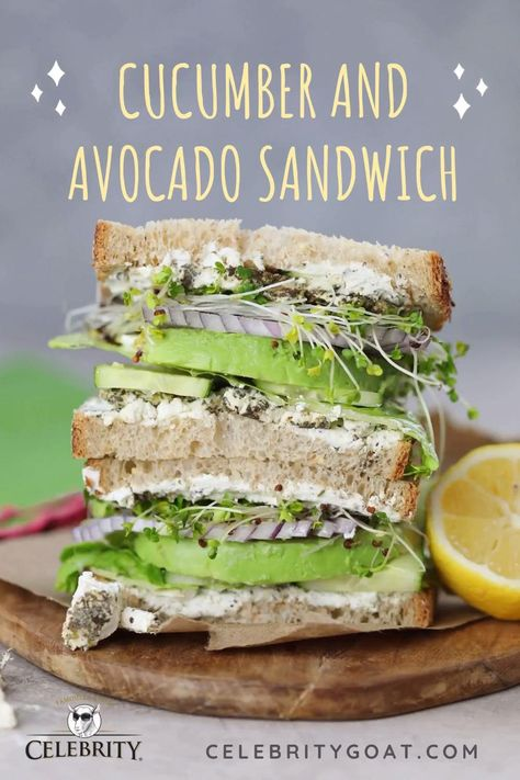 From family brunch to everyday lunch, Celebrity Goat's Cucumber and Avocado Sandwiches are the perfect way to bring refreshing flavor to any occasion. Click the link for our delicious recipe! #quicklunch #healthylunch #healthyfood #lunchideas #goatcheese #recipewithavocado