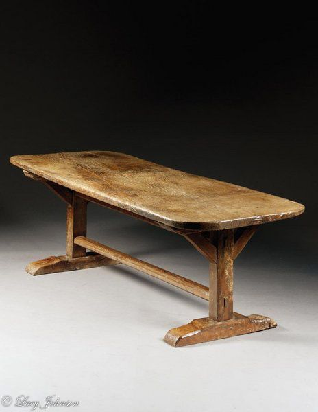 An Extremely Rare Late 16th Century, Oak, Monastery, Trestle Table : The  British Antique Dealersu0027 Association | ŚREDNIOWIECZE | Pinterest | Trestle  Tables, ...