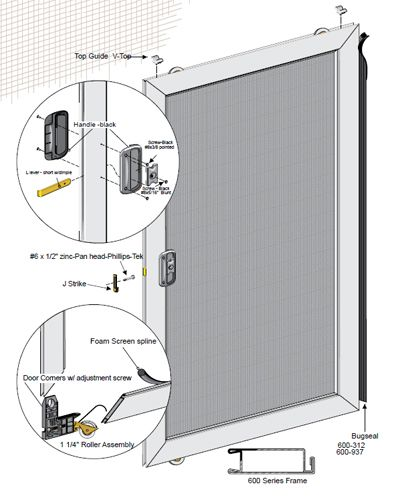 36 X79 Unassembled Economy Sliding Screen Door Kit With Images