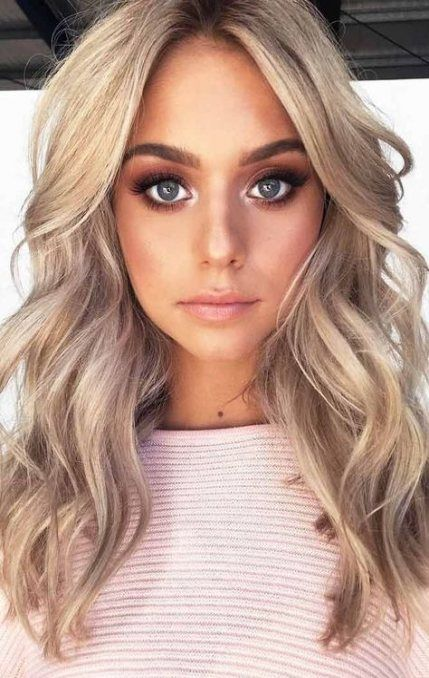Hair Color Ideas For Brunettes Blue Eyes Haircuts 60 Ideas Blonde With Blue Eyes Blonde Hair Blue Eyes Brunette Hair Color