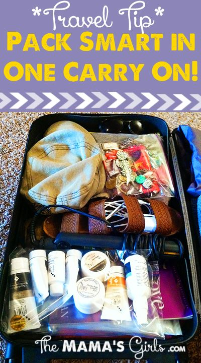 Smart Packing In Just One Carry On ~ How to pack all your stuff in one carry on bag!