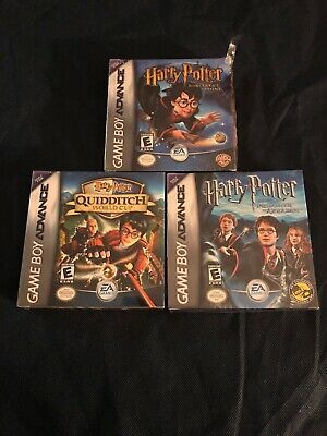 Lot Of 3 Great Harry Potter Nintendo Game Boy Advance Games Sorcerer S Stone New Harrypotter Harry Butter Nintendo Game Boy Advance Game Boy Advance Gameboy