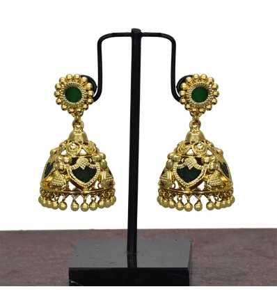 4d0f08faa26c5 Beautiful South Indian Traditional Palakka Jimikki Earrings | Jewels ...