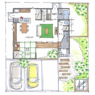 ボツプラン570 敷地が広いので 建物の横幅を91cm広げた間取りを提案