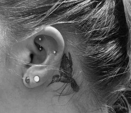 Best Small Bird Tattoo Behind Ear Peace Ideas Behind Ear Tattoo Small Behind Ear Tattoos Hummingbird Tattoo