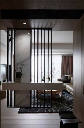 Stunning Modern Partition Design Ideas For Living Room 15 Wall