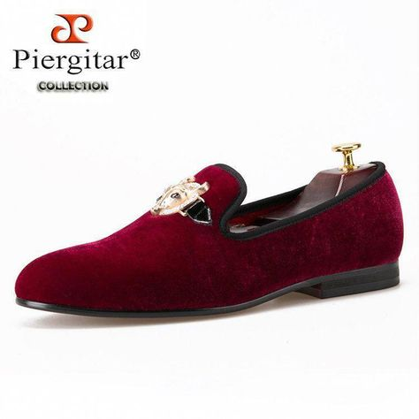 11fa8509742 2016 New arrival men Velvet shoes with Tau buckle Men Smoking Slipper  Fashion Prom and Banquet Loafers Men Flats Size US 4-17  Promshoes
