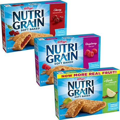 Ct Pick 3 >> Kelloggs Nutri Grain 8 Ct Soft Baked Breakfast Bars Bundle