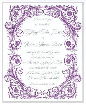 Edwardian or Downton Abbey style wedding invitation Downton Abbey