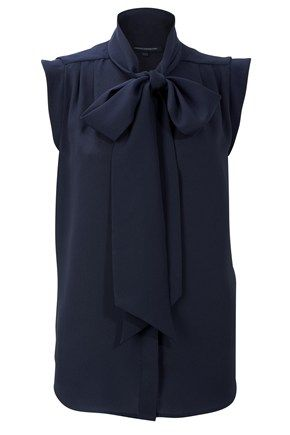 Identical to 'Sub Silky Tie' blouse Kate wore in portrait, in USA it's the KATHERINE PLAINS TIE NECK TOP New Arrivals - French Connection USA