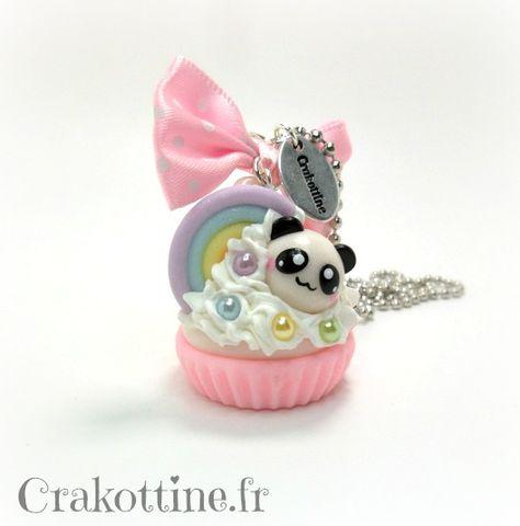 Collier Cupcake Panda Kawaii