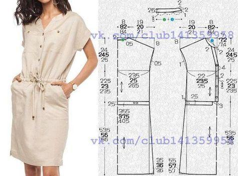 ec64c6186b2 Платье-футляр с цельнокроеными короткими рукавами и ложной застежкой на  планке.  простыевыкройки  простыевещи  шитье  платье  платьефутляр  вы…