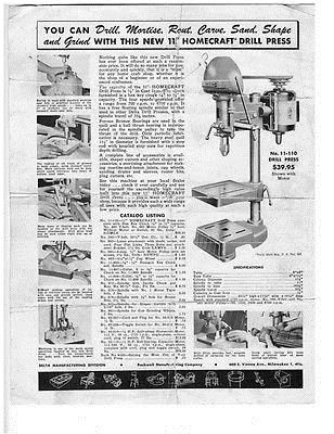 Manuals and Guides 171208: Delta Rockwell No  11-110 Drill