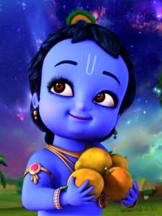 Little Krishna Cute Android Iphone Wallpaper Little Krishna Cartoons Krishna Krishna Wallpaper