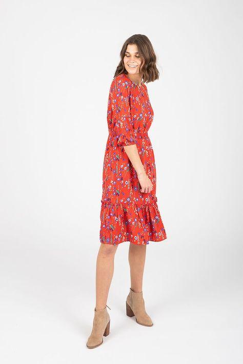 94647fdd22b5 Piper & Scoot: The Morgan Floral Ruffle Dress in Poppy