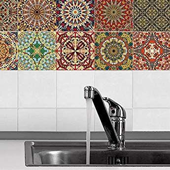 Zdmathe 3d 20 Stuck 15x15cm Fliesenaufkleber Wandaufkleber Mosaik Muster Sticker Wasserdicht Selbstklebend Au Fliesenaufkleber Mosaikfliesen Klebefolie Fliesen