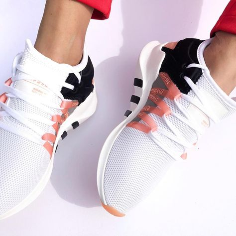 The adidas Originals EQT Racing ADV is a shoe with a strong history and adidas heritage. The sneakers design is inspired by the famous running shoe of the running shoes adidas Originals EQT Racing ADV - White, Pink, Black - SportStylist Doll Shoes, Women's Shoes, Me Too Shoes, Shoe Boots, Converse Shoes, Louboutin Shoes, Black Converse, Gucci Shoes, Dress Shoes