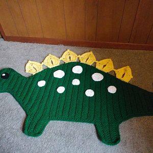Crochet Dinosaur Rug Stegasaurus Nursery Rug Rawr Etsy In 2020 Crochet Rug Patterns Dinosaur Rug Crochet Dinosaur