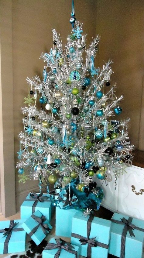 Blue, baubles and Breakfast at Tiffany's. Holly Golightly would love it. #Christmas #tree