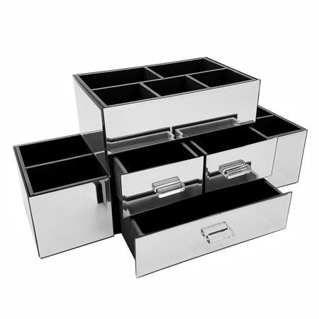 Beauty With Images Silver Mirrors Makeup Organization