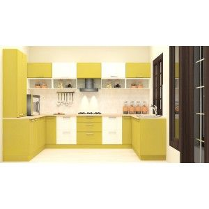 U Shaped Kitchen With Laminate Finishscale Inchget Plywood Adorable Kitchen Designs Online Decorating Design