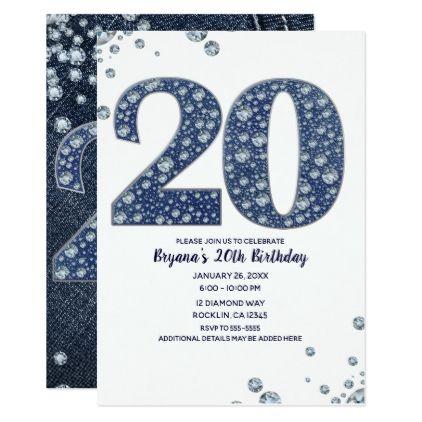 denim diamonds bling sparkle 20th 20
