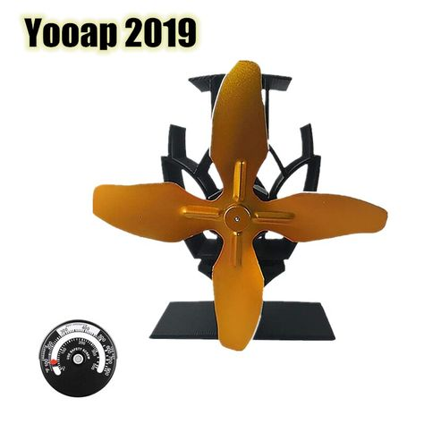 Yooap 2019 Update Version Automatically Starts 4 Wings Mute Physics Advanced Environmental Aluminum Fireplace Fan Heatingcoolingyooap 2019 Updat With Images Fireplace Fan