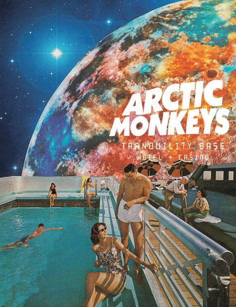 "veinsofmantra: ""Arctic Monkeys - Tranquillity Base Hotel & Casino album posters inspired by Leaf & Petal Design "" Bedroom Wall Collage, Photo Wall Collage, Picture Wall, Room Decor Bedroom, Room Posters, Band Posters, Pop Art Posters, Graphic Design Posters, Poster Art"