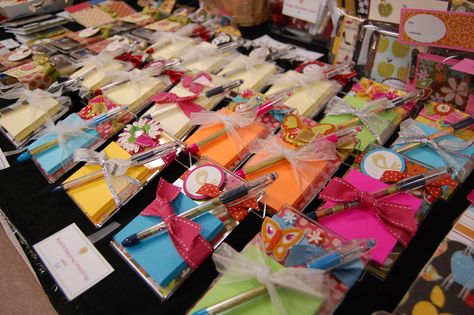 Craft Show Tips - great for the homemade table at the auction or for the farmer's market.