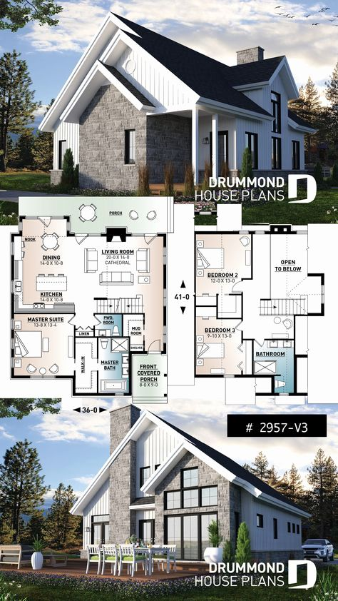 Traditional Scandinavian House Plans Luxury 340 Best Lakefront Cottage Home Plans Country Cottage In 2020 Cottage Plan House Plans House Design