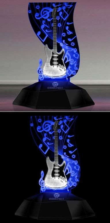 Guitar 3d Line Lamp Music Note Table Lamp Led Light Desk Lamp Music Lover Gift Led Lights Gift For Music Lover Lamp