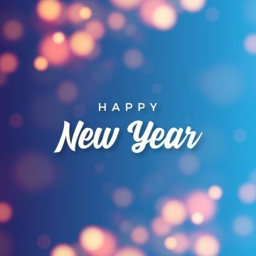 Abstract Happy New Year With Bokeh Background Abstract New Year Png And Vector With Transparent Background For Free Download Happy New Year Text Photoshop Templates Free Bokeh Background