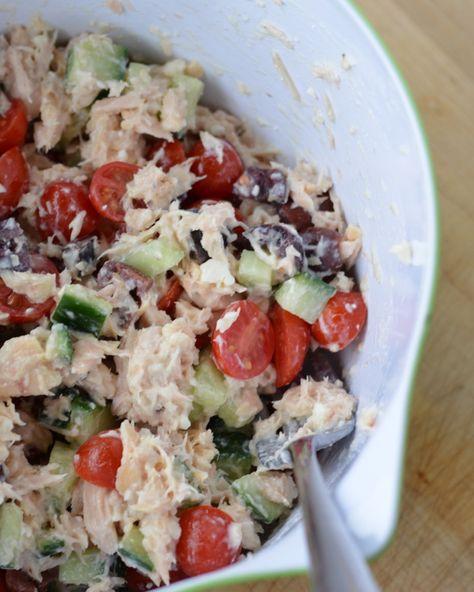 Greek Tuna Salad With Bumble Bee Tuna Beehealthy Cg In