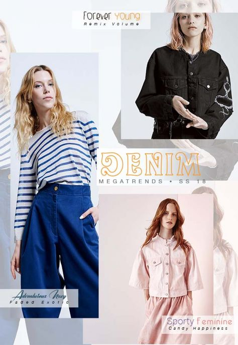 See the new SS18 DENIM Directions | Mega Trend Forecast by 5forecaStore