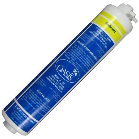 Oasis 033660 001 Quick Change Sediment Prefilter Yellow Sediment Oasis Reverse Osmosis