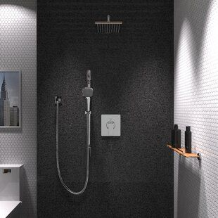 Dimakai Pressure Balanced Complete Shower System With Rough In Valve Shower Systems Shower Faucet Shower Faucets