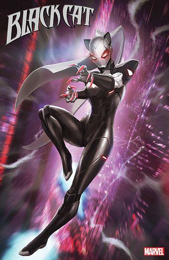 Black Cat's Brand New Costume. Iron Man Armor, Marvel Art, Comics Girls, Character Art, Black Cat Marvel, Superhero Design, Black Cat Comics, Spiderman Art, Superhero Art