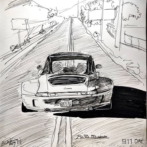Today is 911 day! Bring a RWB 993 for everyone! #sketches #porsche #sketchbook #rauhweltbegriff #drawings #sketching #drawing #cardrawing #porscheclassic #sketchart #porsche993 #993 #illustration&nbsp