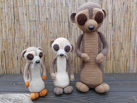 Familie Erdmännchen In Der Makerist Werkschau Finde Inspirationen