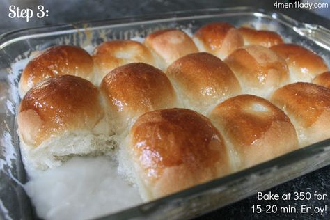 1/2 cup of sugar & 10 oz. of coconut milk over raised rolls before they go in the oven. Super easy pani-popo.