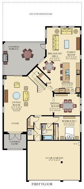 First Floor New House Plans House Plans Two Story House Plans