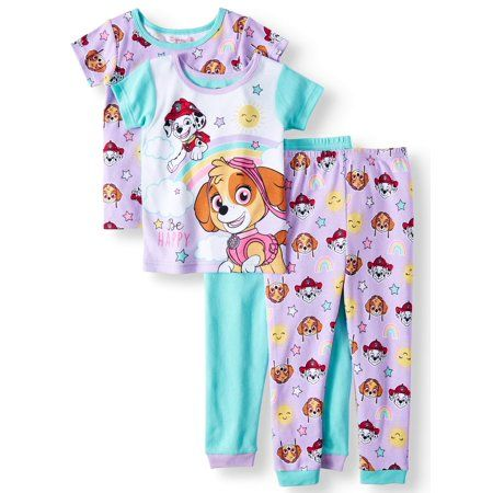 Paw Patrol Boy 4PC Long Sleeve Tight Fit Cotton Pajama Set Size 4T