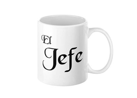El Jefe Mug Coffee Mug Taza Unique Coffee Mugs by SnowWeasel