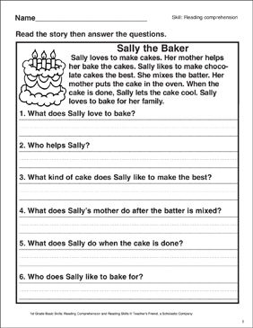 Grade 1 English Worksheet Scalien With Images 1st Grade