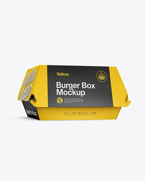 Download Burger Box Mockup Half Side View In Box Mockups On Yellow Images Object Mockups Burger Box Box Mockup Iphone Mockup Free Yellowimages Mockups