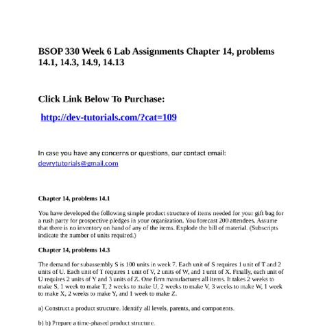 Bsop  Week  Lab Assignments Chapter  Problems