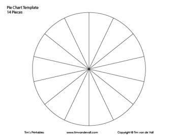 14 Piece Pie Chart Pie Chart Template Pie Chart Templates