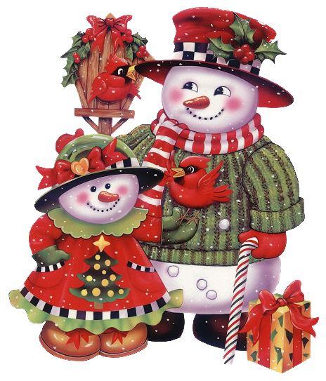 Many snowmen, great for print 'n cuts