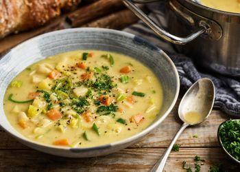 Kartoffelsuppe Mit Gemuse Basisch Rezept Cremige Kartoffelsuppe Kartoffelsuppe Suppe