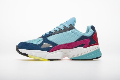 new style 73645 3260b Adidas Falcon W YUNG-2 Red Blue Yellow Sneaker BB9180 2